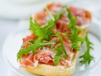 Ham and Arugula Toast Slice recipe