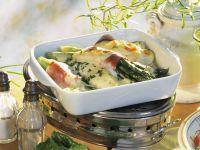 Ham and Asparagus Gratin recipe