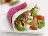 Ham and Avocado Wrap recipe