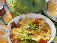 Ham and Cabbage Gratin recipe
