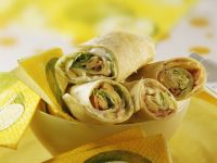 Ham and Cheese Wraps recipe