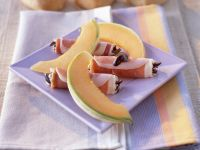 Ham and Goat Cheese Rolls with Melon recipe