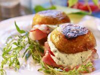 Ham and Herb Cheese Stuffed Potatoes recipe