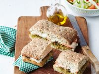 Ham and Mozzarella Sandwich with Pesto recipe