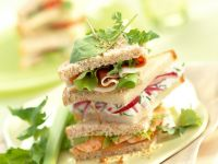 Ham and Prawn Stack Sandwiches recipe