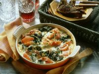 Ham and Spinach Gratin recipe