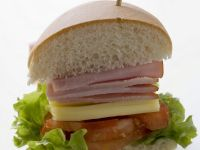 Ham, Cheese, and Tomato Subs recipe