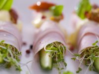 Ham Rolls with Cucumber and Cress recipe