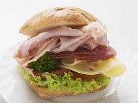 Ham, Salami and Cheese Ciabatta Roll recipe