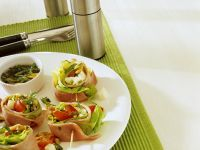 Ham-Vegetable Appetizers recipe