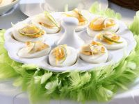 Hard-Boiled Eggs with Trout Roe recipe
