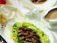 Hare Fillet with Cabbage and Sauce recipe