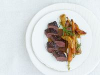 Hare with Root Vegetables and Quince