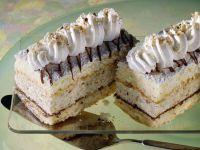 Hazelnut and Chocolate Cake with Whipped Cream recipe