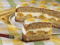 Hazelnut Cake with Apples and Apricots recipe