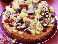Hazelnut Cake with Grapes recipe