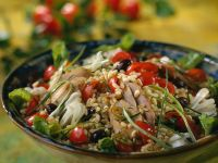 Healthy Grains with Sliced Duck recipe