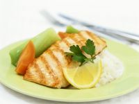 Healthy Grilled Salmon with Rice recipe