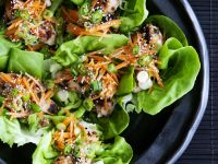 Healthy Lettuce and Sesame Seeds Cups recipe