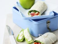 Healthy Vegetarian Wraps with Celery recipe