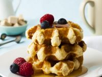 Diet Breakfast Waffle Stack recipe