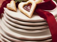 Heart Biscuits with Jam recipe