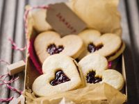 Heart Shaped Butter Cookies with Raspberry Jam recipe