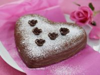 Heart-shaped Cake with Chocolate recipe