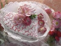 Heart-Shaped Cake with Rose Decoration recipe