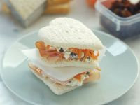 Heart-Shaped Ham, Cheese and Carrot Sandwiches recipe