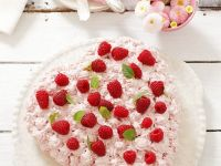 Heart-Shaped Raspberry Cake recipe