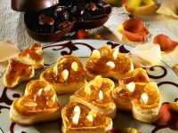 Heart Shaped Vol-au-Vents with Wine Jelly recipe