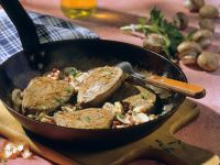Hearty Beef Pan with Ham and Mushrooms recipe