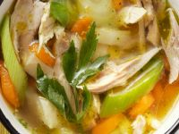 Hearty Chicken and Veggie Broth recipe