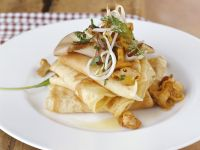 Hearty Crepes with Mushrooms and Sprouts recipe