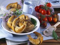 Hearty Croissants with Ground Meat and Feta recipe