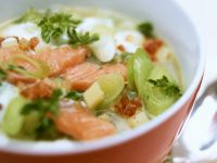 Hearty Fish and Sliced Leek Soup recipe