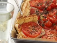 Hearty Tomato Pie with Cheese and Ham recipe