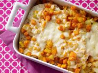 Hearty Vegetable-Bread Casserole recipe