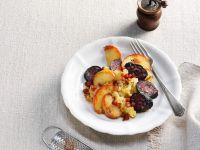 Heaven and Earth (Blood Sausages, Apples and Mashed Potatoes) recipe