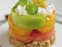 Heirloom Tomato and Feta Salad Tian recipe