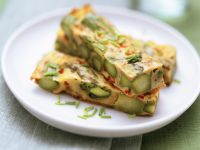 Herb and Asparagus Egg Slice recipe