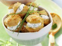 Herb and Cream Cheese Profiteroles recipe