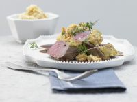Herb and Nut Crusted Venison recipe