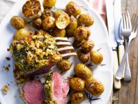 Herb Crusted Lamb with Rosemary Potatoes recipe