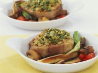 Herb-crusted Veal with Vegetables recipe