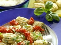 Herb Gnocchi with Tomato Sauce recipe