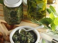 Herb Oil and Hazelnut-Herb Pesto recipe