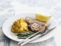 Herby Pork with Squash Puree recipe