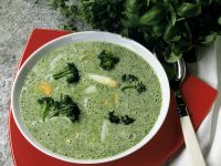 Herb Soup with Broccoli and Asparagus recipe